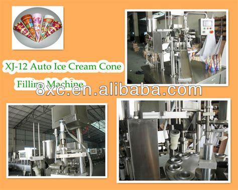 Mesin Es Krim kerucut es krim mengisi dan penyegelan mesin view kerucut
