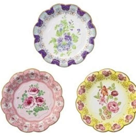 shabby chic paper plates favors and others for baptism