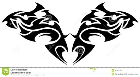 symmetrical tribal tattoos tribal element stock vector image 47427240