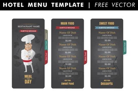 hotel menu template hotel menu template vector free vector