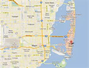 Map Miami by Pics Photos Google Map Of Miami Beach
