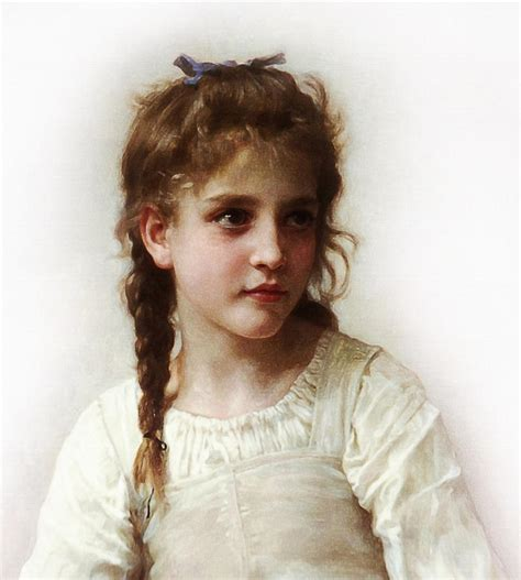 little girl art cute little girl painting by bouguereau