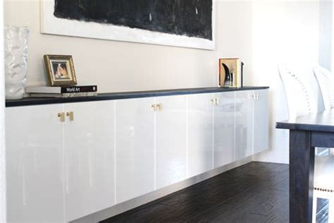 Floating Kitchen Cabinets by Madebygirl Ikea Wall Mounted Buffet In Dining Room