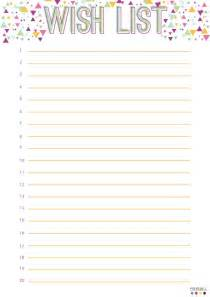 List Templates Printable by Free Wish List Printable Filofax Birthdays