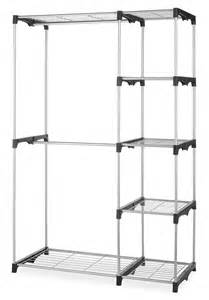 shelves with clothes rods whitmor rod closet system organizer wardrobe