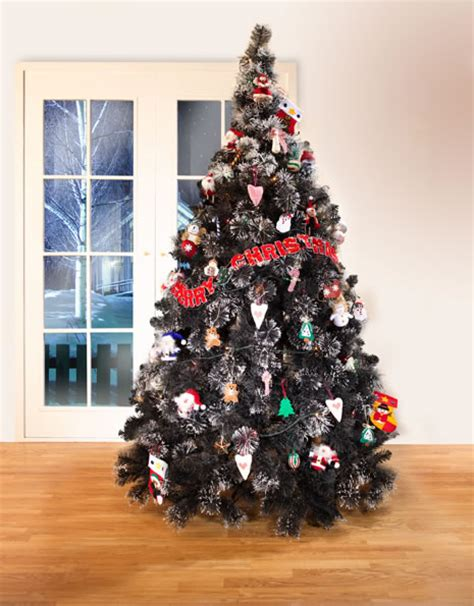 noble fur black christmas tree artificial christmas
