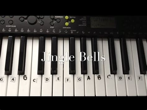 tutorial for keyboard jingle bells keyboard piano tutorial for beginners easy