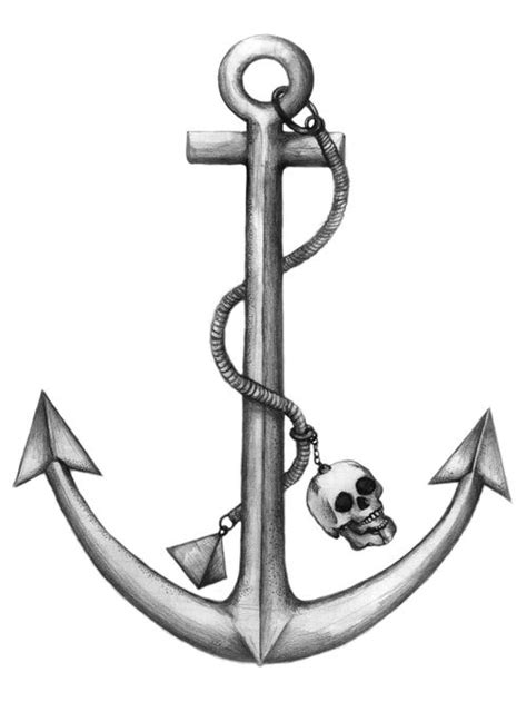 boat anchor drawing anchor drawing with rope and skull photo from www