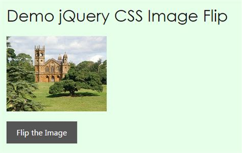 jquery rotate div image flip with jquery css
