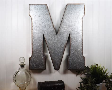 Large Metal Letter 20 Inch Metal Letter Wall Decor Metal Wall Decor Letters