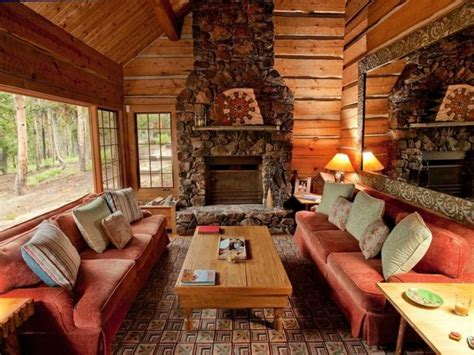 kamin dekor rustikal - Rustikales Wohnzimmer Dekor