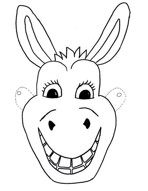 printable animal masks donkey template free kids mask donkey craft children sunday