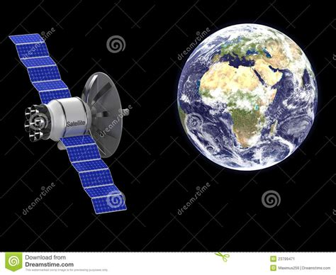 3d Home Map Design Online An Artificial Satellite Stock Image Image 23799471