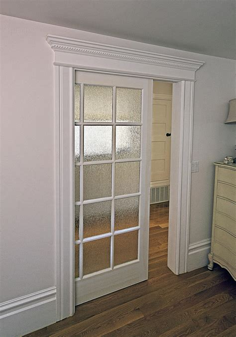 Interior Sliding Pocket Doors Interior Cool White Wall Sliding Door Interior With Tempered Glass Door Design