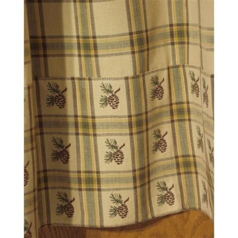 pine cone shower curtain pine lodge shower curtain