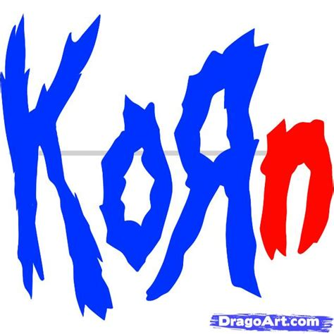 how to draw korn korn logo step by step pop