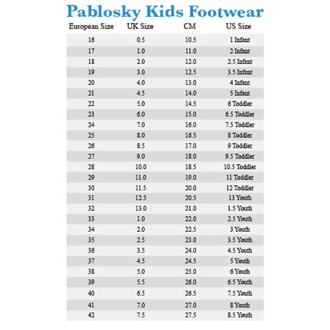 Shoe Size Chart Zappos | zappos shoe size chart shoes for yourstyles