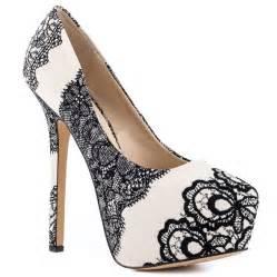 White lace boots for women dejavu black white steve