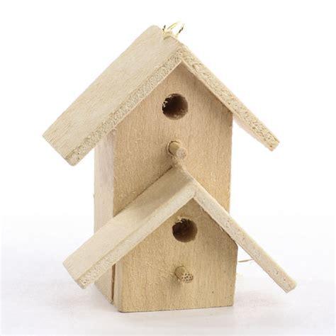 miniature unfinished wood birdhouse ornament birds