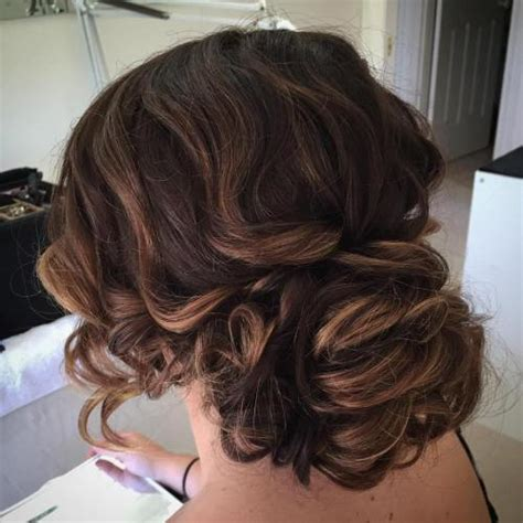 Wedding Hair Low Curly Bun by 40 Creative Updos For Curly Hair