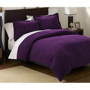 king size bedding chezmoi collection 3 pieces solid purple soft microsuede