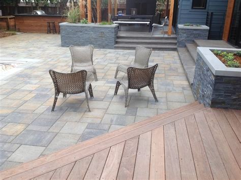 wood deck with paver patio willow glen modern paver patio and wood deck modern
