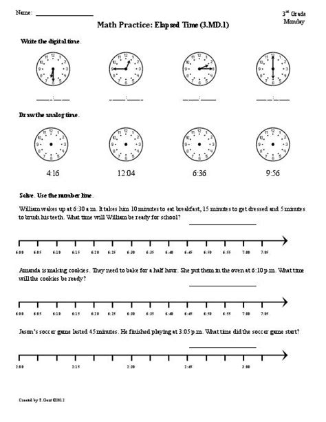 printable math time worksheets for 3rd grade 18 best images of 4th grade clock worksheets 4th grade