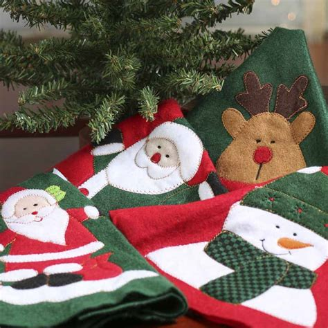 pattern for felt christmas tree skirt small felt christmas tree skirt holiday craft supplies