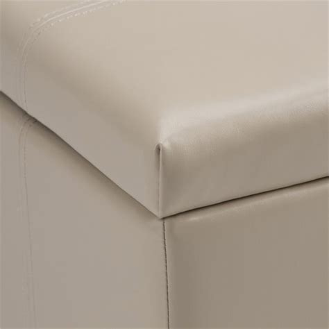 cream leather storage bench faux leather storage bench in cream axcot 223 cr