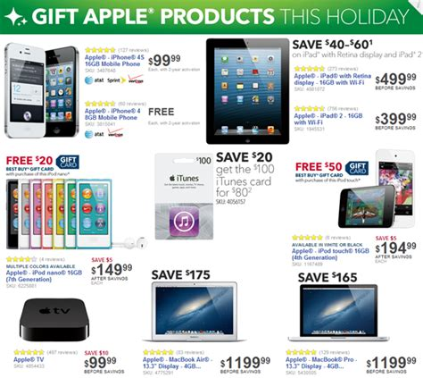 Apple Gift Card Black Friday - best buy s 2012 black friday deals on apple products revealed redmond pie