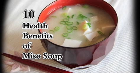 The Health Benefits Of Miso Soup by Remedies