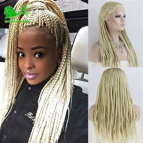lace front braided wigs for african americans fashionable 613 curly micro braid wig braided synthetic