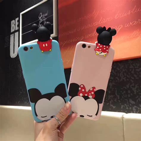 Mickey And Minnie Mouse Q0214 Iphone 7 Plus Casing Premium Hardcase minnie mickey mouse donald duck soft silicone for iphone 7 7plus 6 6s 6plus