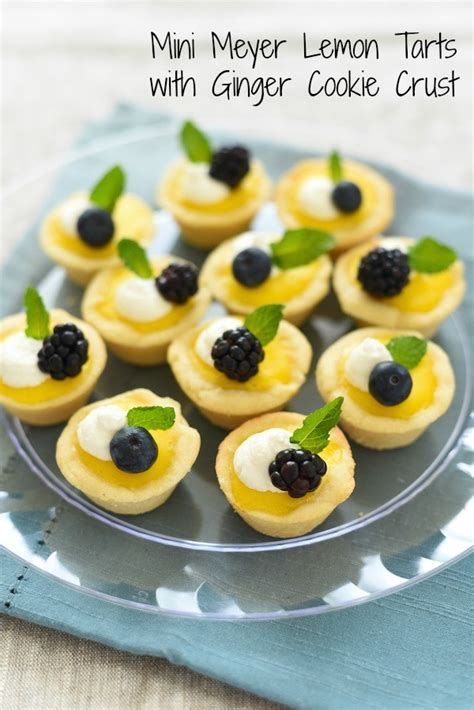 Fruit Decoration For Kids Mini Meyer Lemon Tarts With Ginger Cookie Crust Foxes