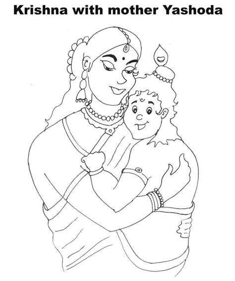free lord krishna drawing coloring pages
