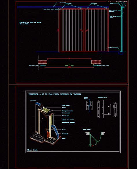 portas dwg block  autocad designs cad