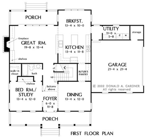Kitchen Floor Plans With Butler Pantry Home Plan The Heywood By Donald A Gardner Architects
