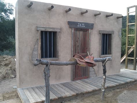 Backyard Building Plans by Old West Jail Facade Building Old Western Town False