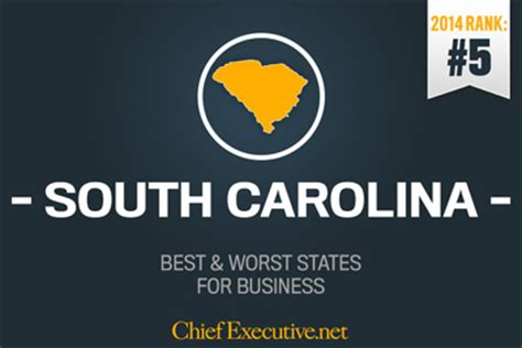 south carolina is 5th best state for business 2014