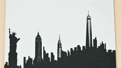 new york city skyline drawing how to draw a skyline silhouette of new york diy crafts tutorial