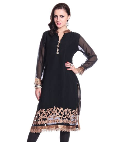 long kurti pattern design grace designs stylish black gold long kurti buy grace