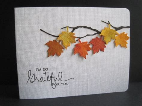 fall cards to make grateful leaves by lisaadd cards and paper crafts at