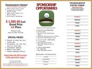 Charity Golf Tournament Sponsorship Letter Template golf tournament