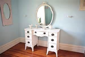 Vintage Makeup Vanity Desk Shabby Chic Vanity Desk White Distressed Antique Cottage