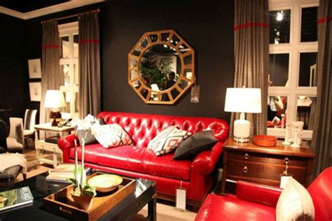 how to decorate around a red couch a red room decorating with the color red