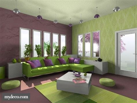 121 best interior purple green images on