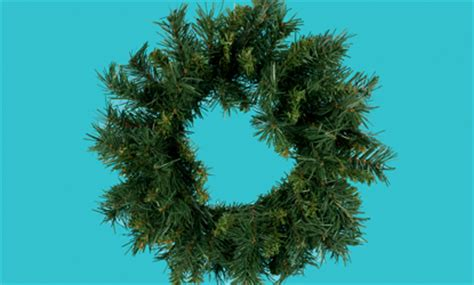 undecorated artificial christmas wreath