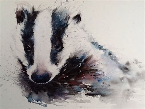 watercolor tattoos lancashire original watercolour painting gorgeous badger