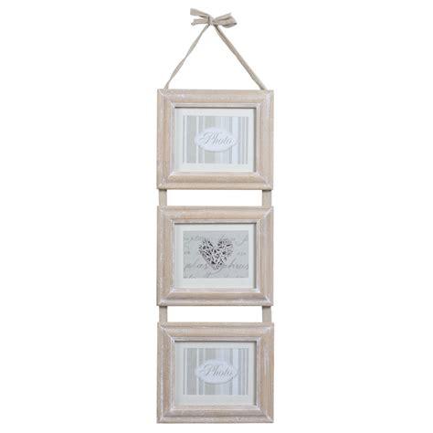 cornici maison du monde cornice tripla in legno 25 x 82 cm estelle maisons du monde