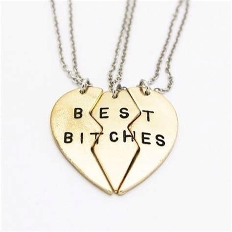 best bitches three way 3 necklace by totallysparklyy